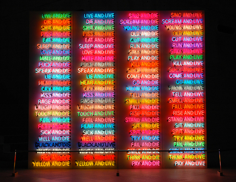 bruce nauman one hundred